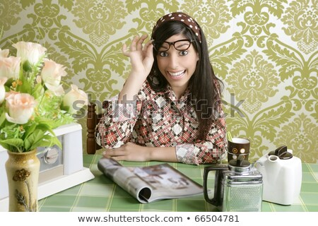 Retro 70s Coffee Image Stock photo © xochicalco