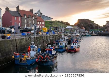 old fishing harbour in dunbar scotland uk stock photo © julietphotography