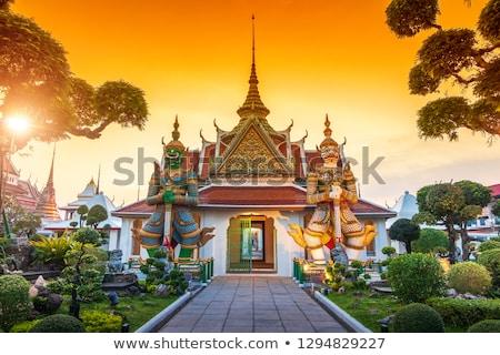 Сток-фото: Бангкок · мнение · храма · скульптуры · керамика · королевский