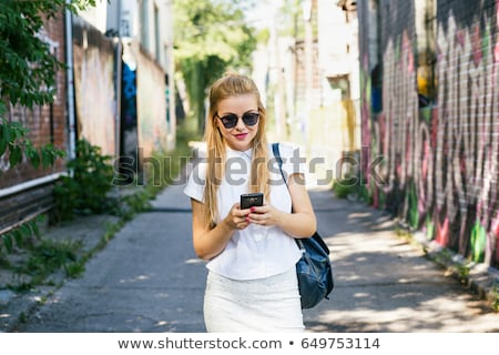 Young woman in oversized sunglasses Stock photo © photography33