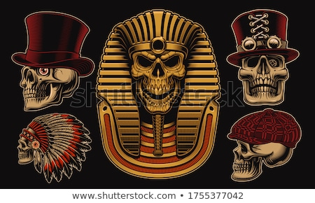 Egipcio faraón cielo nubes África máscara Foto stock © ozaiachin