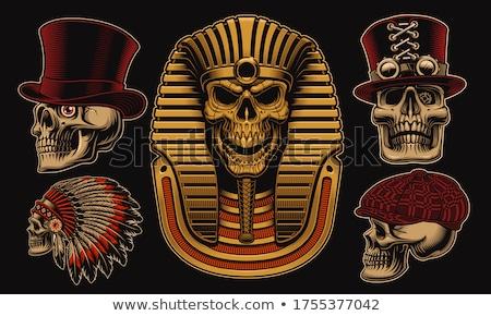 Egípcio faraó céu nuvens África máscara Foto stock © ozaiachin
