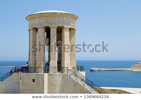 Siege Bell, war memorial in Valetta, Malta. Stock photo © pixelmemoirs