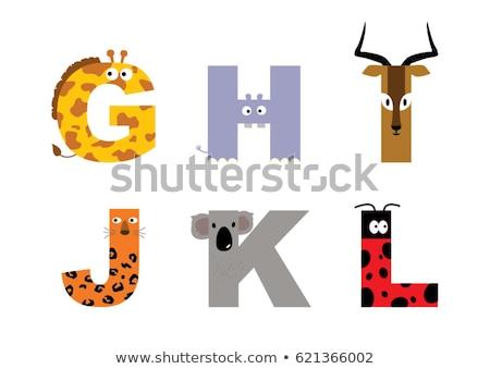 животного алфавит бегемот школы ребенка фон Сток-фото © kariiika