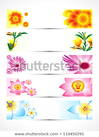 Abstract multipla floreale banner set cuore Foto d'archivio © pathakdesigner