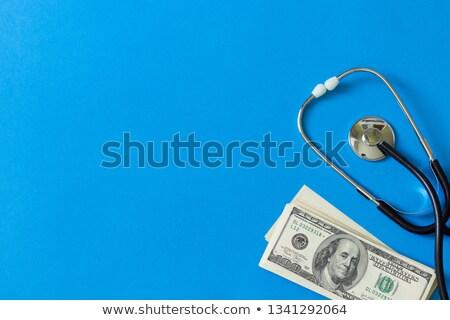 tıp · finanse · dengelemek · hap · para · sikke - stok fotoğraf © compuinfoto