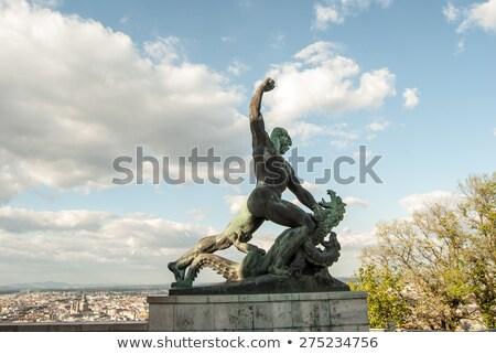 Estátua colina Budapeste liberdade Hungria céu Foto stock © samsem