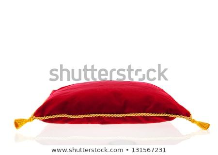 Real rojo terciopelo almohada dorado cuerda Foto stock © ivonnewierink