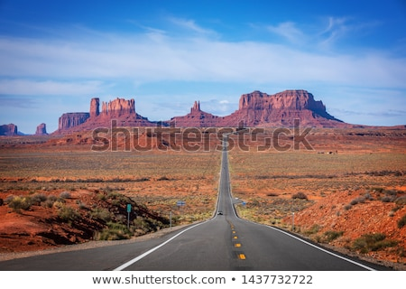 famous monument valley at sunrise stock photo © vwalakte