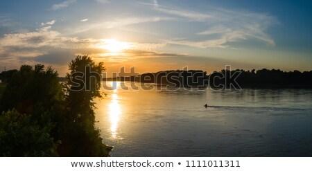 Rivière Missouri belle automne arbres laisse Photo stock © clearviewstock