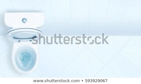 Beautiful and luxury toilet bowl on white background Stock photo © JohnKasawa