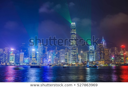 Hong Kong notte view sinfonia luci business Foto d'archivio © kawing921