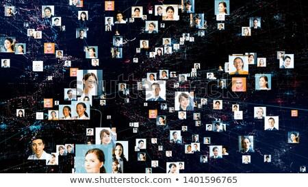 Business woman, googles and world map Stock photo © lunamarina