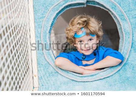 Portrait of boy in superman costume Stock photo © zzve