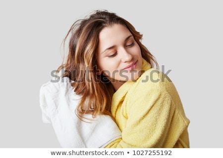 Nő elvesz spa kezelés fehér arc boldog Stock fotó © chesterf