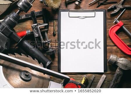 outils · banc · vintage · bois · construction · crayon - photo stock © rhamm