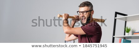 Angry businessman with bat Stock photo © Kirill_M