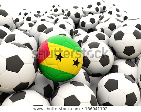 Flag of sao tome and principe with football in front of it Stock photo © MikhailMishchenko