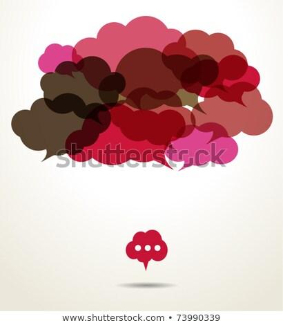 Jasne wiszący dialog chmury wektora sieci Zdjęcia stock © burakowski