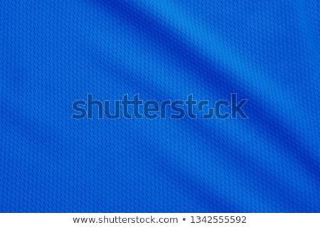 close up of blue silk textured cloth Stock photo © mycola