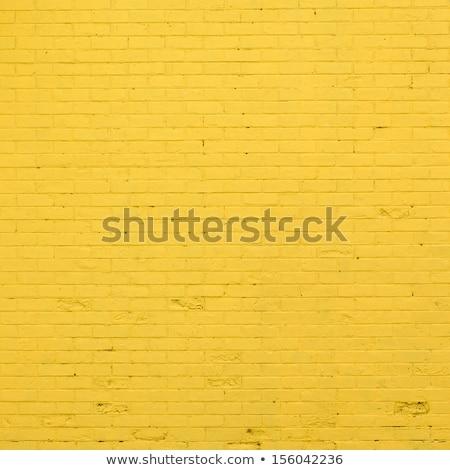 Vermelho amarelo parede de tijolos velho construção parede Foto stock © meinzahn
