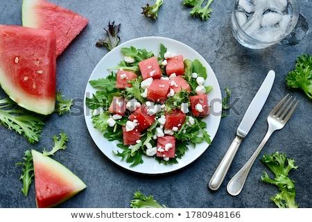 Melancia salada fresco doce dieta saudável Foto stock © M-studio