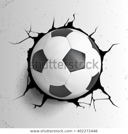 Soccer ball and cracked wall. Stock photo © timurock