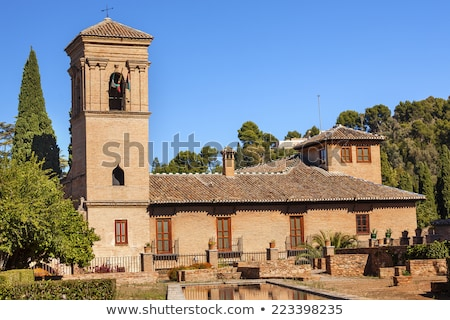 Alhambra Wall Courtyard Granada Andalusia Spain Stock photo © billperry