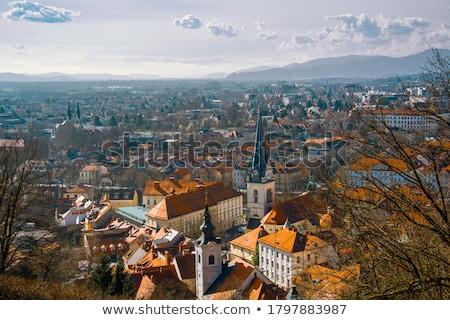 квадратный · Словения · Европа · романтические · город · центр - Сток-фото © joyr