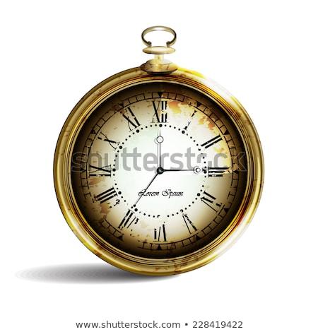 technology on pocket watch face stock photo © tashatuvango