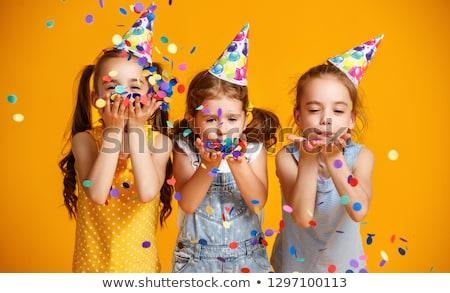 Geburtstag Kinder drei Öffnen vorliegenden Spielzeug Stock foto © Soleil