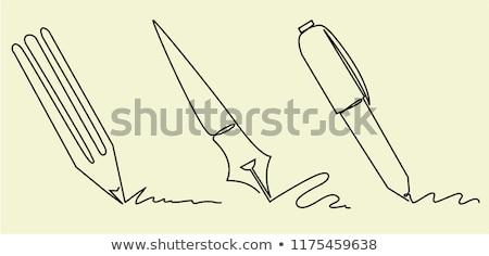 One Pencil Icon Vector Illustration Foto stock © jagoda