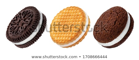 сэндвич · Печенье · Sweet · кремом · пирамида - Сток-фото © designsstock