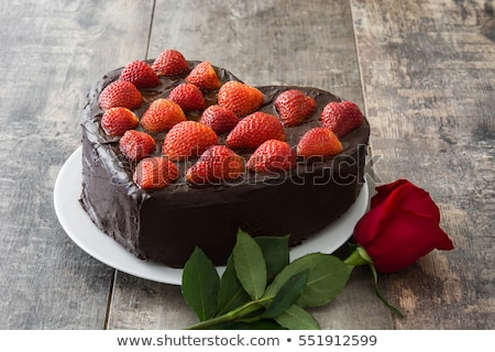 gâteau · design · art · cerise · dessert · tarte - photo stock © serebrov