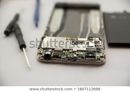 törött · fehér · üveg · fa · számítógép · telefon - stock fotó © oleksandro