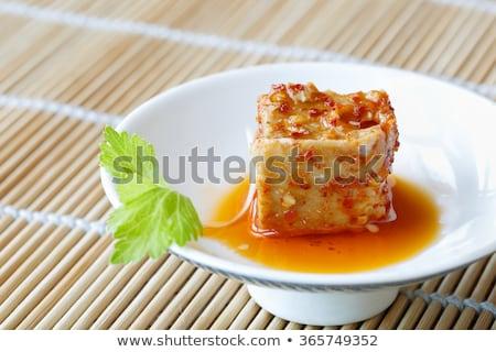 唐辛子 豆 豆腐 ボウル 食品 ストックフォト © zkruger