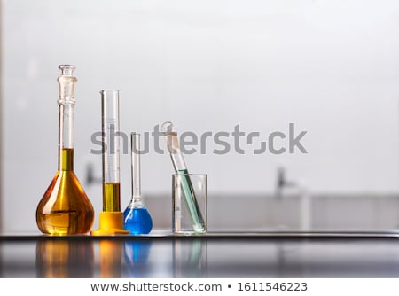 jar with colored reagents closeup  Stock photo © OleksandrO