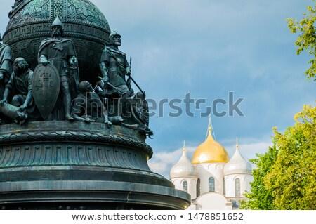 Heykel viking 1000 yıl rus tarih Stok fotoğraf © smartin69