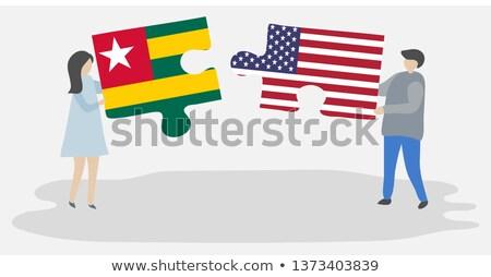USA Togo flagi puzzle odizolowany biały Zdjęcia stock © Istanbul2009