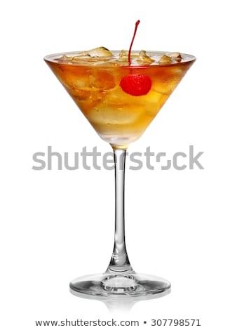 стекла Martini темно воды пить Сток-фото © OleksandrO