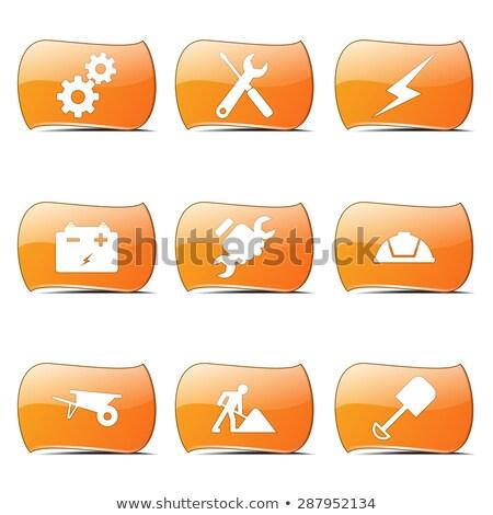 construction tools orange vector buttonicon design set stock photo © rizwanali3d