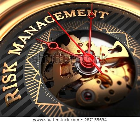 Insurance on Black-Golden Watch Face.  Stock photo © tashatuvango