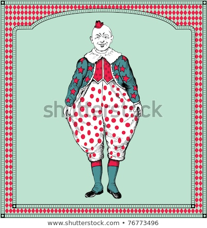 funny clown framing with hands stock photo © wavebreak_media