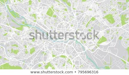 Straßenkarte rot Pin Stadt Karte abstrakten Stock foto © chris2766