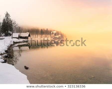 tramonto · lago · parco · valle · cielo · acqua - foto d'archivio © fesus