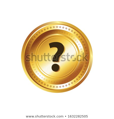 help circular vector gold web icon button stock photo © rizwanali3d