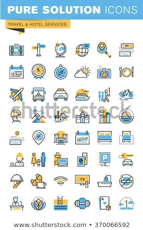 Stockfoto: Blauw · vector · icon · ontwerp · technologie · digitale