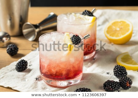коктейль джин лимона сахар сироп BlackBerry Сток-фото © netkov1