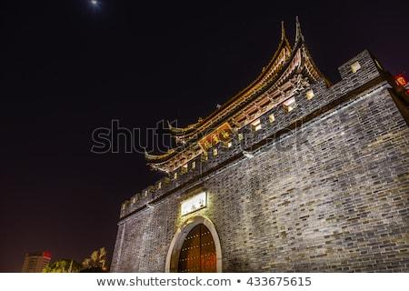 water canal near nanchang temple wuxi jiangsu china night stock photo © billperry