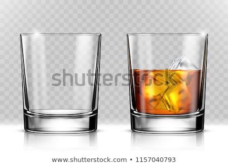 Glas whiskey goede oude fles zwarte Stockfoto © alex_l